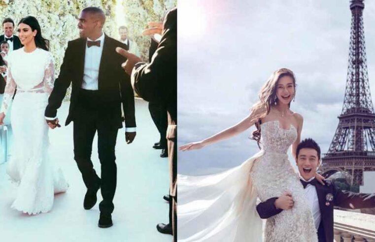 Celebrities wear Expensive Wedding Dresses.